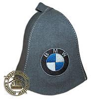 """BMW"", шапка для бани (R), серая"