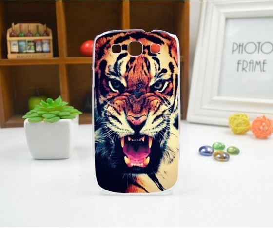 Чехол для Samsung Galaxy Core2 G355 панель накладка с рисунком тигр