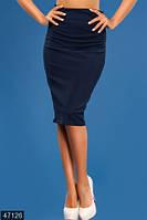 Стильная облегающая женская юбка карандаш с молнией сзади талия высокая трикотаж