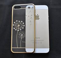 Чехол-бампер Flower Gold для Apple iPhone 5/5s, фото 1
