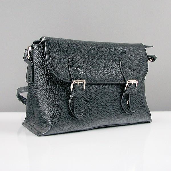 8ee034ef5e62 Черная сумка-портфель женская кожаная матовая - Интернет магазин сумок  SUMKOFF - женские и мужские