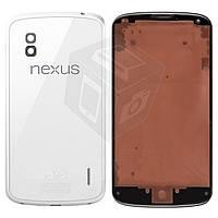 Корпус для LG Nexus 4 E960,белый- оригинал