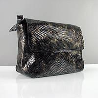 Змеиная лаковая модная сумка из натуральной кожи