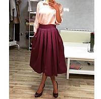Юбка женская Мадлен марсала , магазин юбок