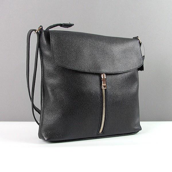 a032b8cc592b Кожаная черная сумка-планшет женская Viladi - Интернет магазин сумок  SUMKOFF - женские и мужские