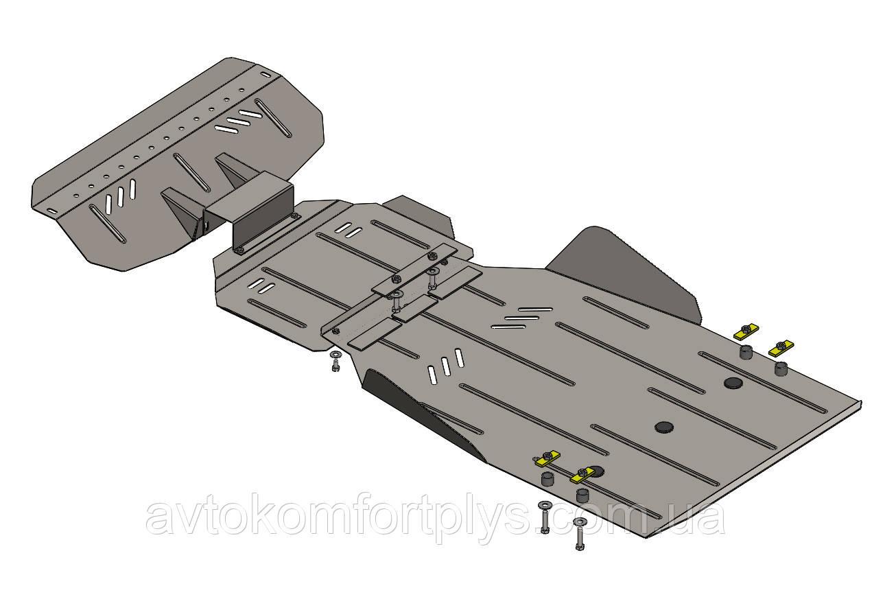 Металлическая (стальная) защита двигателя (картера) Ssаng Yong Rexton W (2013-) (2,7TDI)