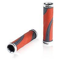 Грипсы XLC GR-S22 'Sport bo', красно-серые