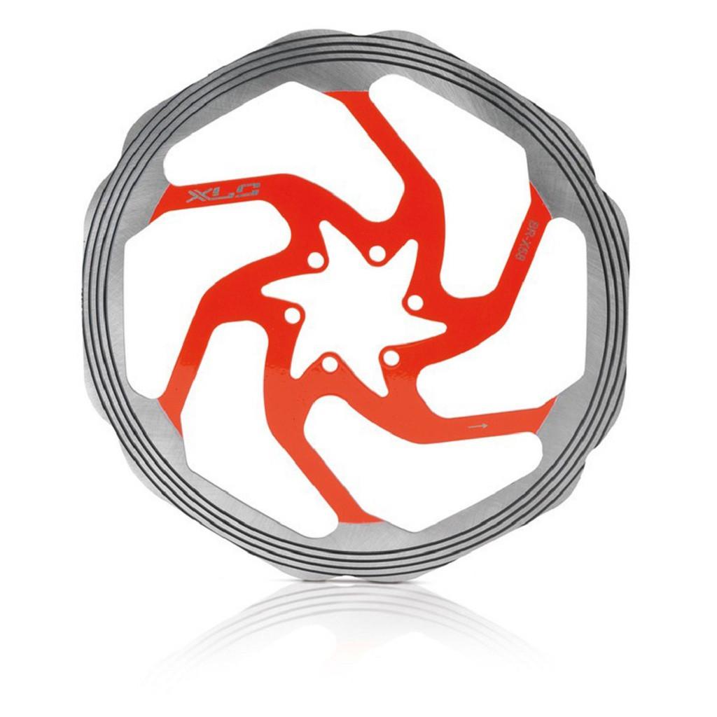 Ротор XLC BR-X58, ø160 мм. серебристо-красный
