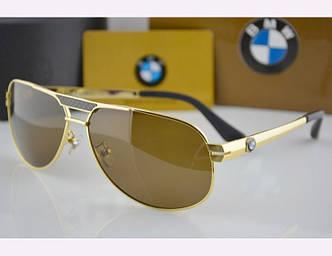 Солнцезащитные очки BMW (81007) gold SR-038