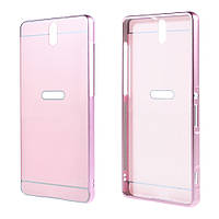 Чехол накладка бампер Mirro-like для Sony Xperia C5 Ultra E5553 Dual E5533 розовый
