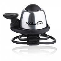 Звонок велосипедный XLC DD-M07, серебристый, Ø22,2-31,8мм