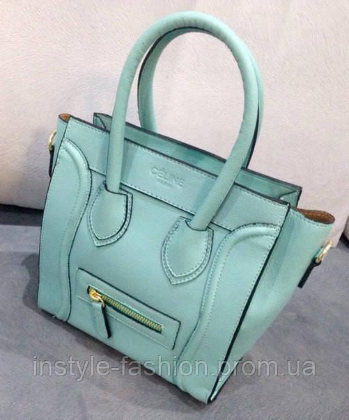 Бирюзовая сумка небесно голубая Celine