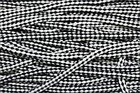 Шнур ХБ 8мм. (100м) черн.+белый