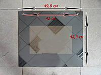 Стекло плиты  Гефест внешнее дзеркальное 3100 размером 49,8х43,3 см