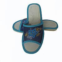 Кожаные тапочки летние, женские ТЛЖ5