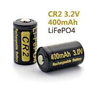 Аккумулятор литиевый LiFePO4 CR2 Soshine 3.2V (400mAh), незащищенный