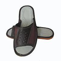 Кожаные тапочки летние, мужские ТЛМ2