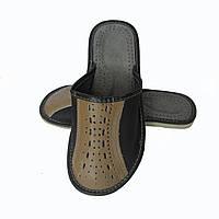 Кожаные тапочки летние, мужские ТЛМ4