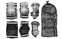 Защита спорт. наколенники, налокот., перчатки детская ZEL SK-4678BK CANDY (р-р S, M, L, черная)