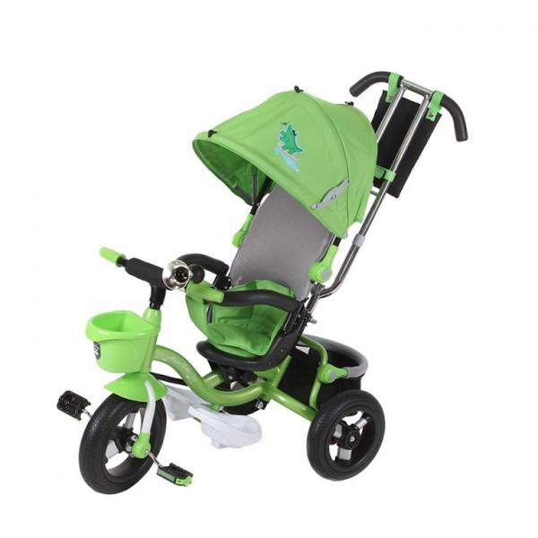 Детский велосипед трехколесный Mars Mini Trike надувные с капюшоном LT960 зеленый