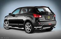 Защита задняя Nissan  Qashqai+2 2008-2010