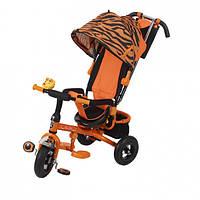 Детский велосипед трехколесный Mars Mini Trike надувные Зоо LT952-2А тигр