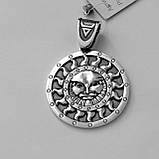 """Срібний підвіс слов'янський оберіг """"Ярило"""" з срібла 925 проби, фото 2"""