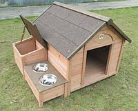 Будка для собаки с кормушкой