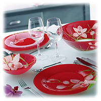 Red Orchis сервиз столовый 19 пр. Luminarc g0663