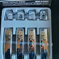 Накладки на ручки на Опель Астра H (хром пластик) Корея.