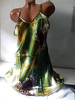 Женская шелковая ночная рубашка