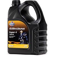 Мотоциклетное масло FUCHS Silkolene SUPER 4 10w-40 (4л.) для 4-тактных двигателей