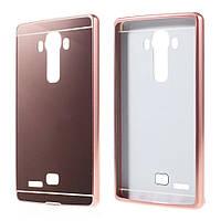 Чехол накладка бампер Mirro-like для LG G4 H815 розовый