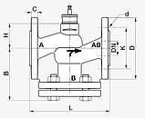 2-х ходовой седельный клапан H632N DN 32 фланцевый, фото 2