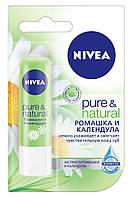 """Бальзам для губ Pure & Natural """"Ромашка и календула"""", 4,8 г"""