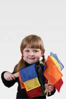 Набор разноцветных флажков (7 шт)