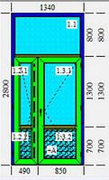 Дверь металлопластиковая KBE