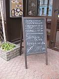 Штендер меловой односторонний, доска меловая, фото 4