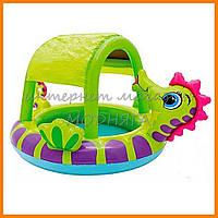 Детский бассейн от 1 годика | детские бассейны intex с навесом 188*147*104см