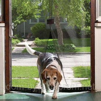 Антимоскитная сетка на дверь magic mesh коричневая