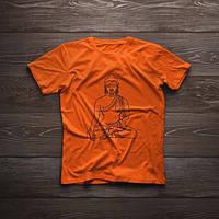 Футболка ручного розпису «Будда» чоловіча, фото 1