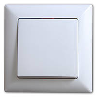 Выключатель одноклавишный Gunsan серия VISAGE цвет.белый