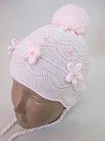 Нежного светлого цвета  шапочки для девочек., фото 1
