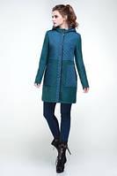 Комбинированное демисезонное пальто Микс