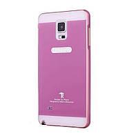 Чехол накладка бампер Mirro-like для Samsung Galaxy Note 4 N910 розовый