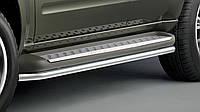 Защита порога Nissan Pathfinder 2005-2016