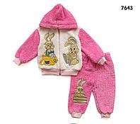 """Махровый костюм """"Кролики"""" для девочки. 3 года"""