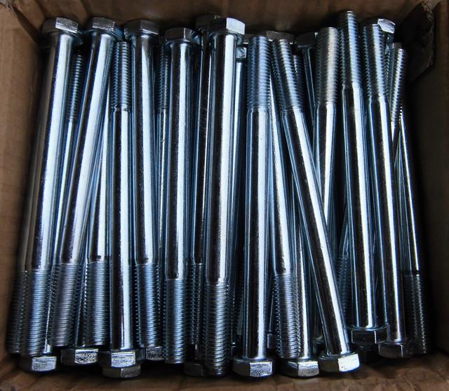 Болт шестигранный ГОСТ 10602-94, DIN 931, DIN 933, класс прочности 5.8 | Фотографии принадлежат предприятию Крепсила
