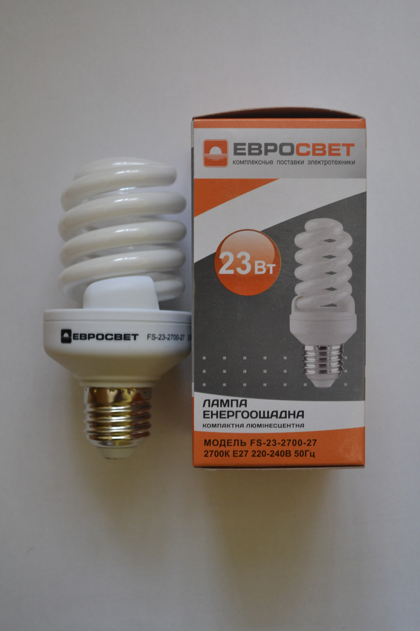 Люминесцентная энергосберегающая лампа 23 Вт S-23-2700-27