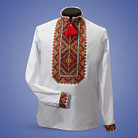 Богатая цветом сорочка вишиванка на катоне